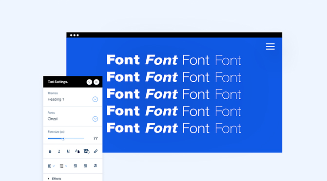 Website-language-font-and-size